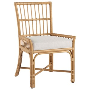 Clearwater Low-Arm Chair with Pole Rattan