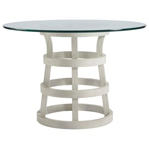 "44"" Round Dining Table with Glass Top"