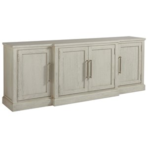 Entertainment Console with Glass or Wood Doors