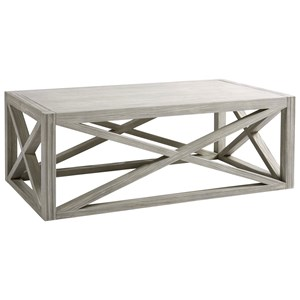 Boardwalk Cocktail Table with Crisscross Detail