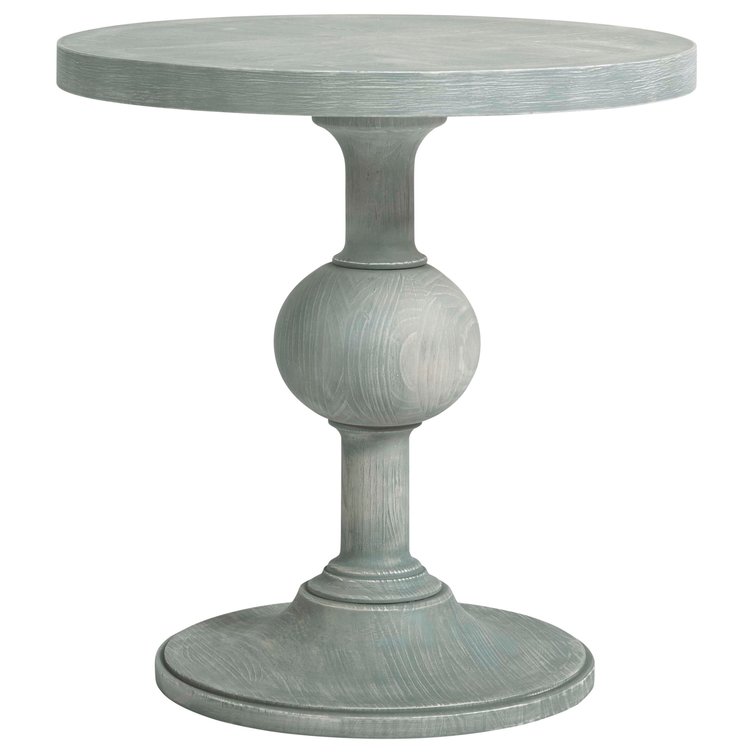 Coastal Living Home - Escape Round Pedestal End Table by Universal at Baer's Furniture