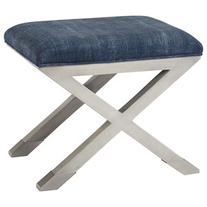 Accent Bench with Denim Suede Seat