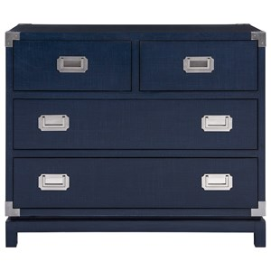 Marina Finished Campaign Chest with 4 Drawers