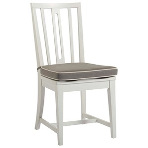 Kitchen Chair with Removable Seat Cushion