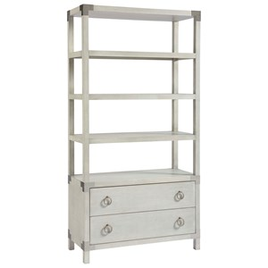 Contemporary Etagere with 2 Drawers