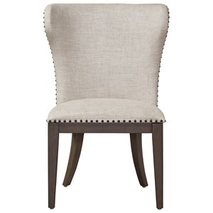 Bladwin Upholstered Side Chair with Nailhead Tack