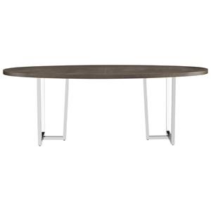 Brighton Table with Metal Pedestals