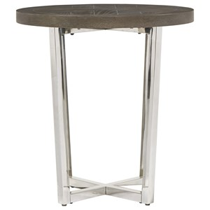 Dorchester End Table with Chrome-Plated Base