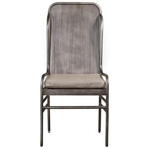 Academy Metal Host Chair with Upholstered Seat