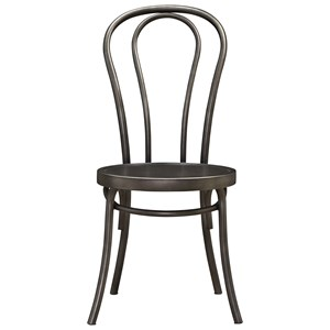 Bistro Metal Chair with Splayed Legs