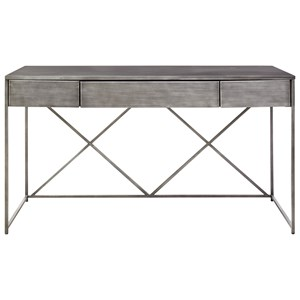 Pembroke Metal Desk with Drop-Front Drawer