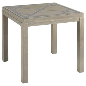 Griffin End Table with Diamond Patterned Top