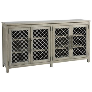 Paxton Industrial Four Door TV Console