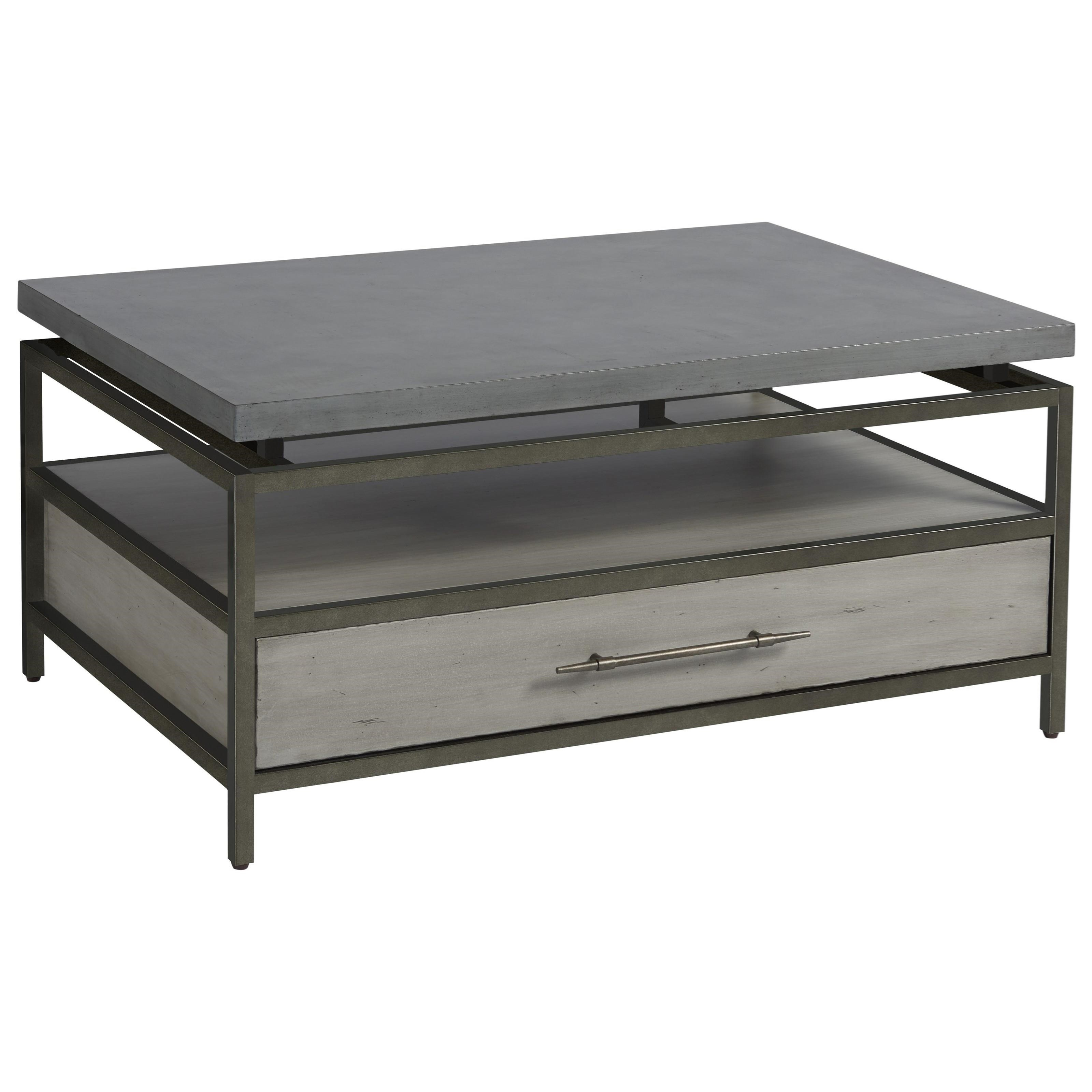 Curated Garrison Cocktail Table by Universal at Baer's Furniture