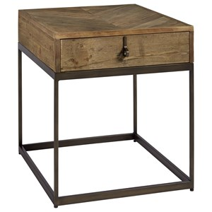Langston End Table with Parquet Pattern Top