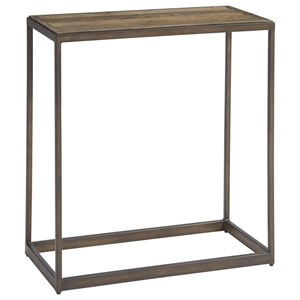 Langston Chair Side Table with Metal Base