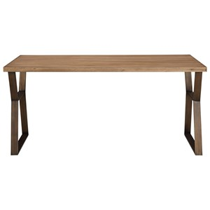 Ainsley 64 Inch Dining Table with Brushed Bronze Base