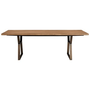 Ainsley 92 Inch Dining Table with Brushed Bronze Base