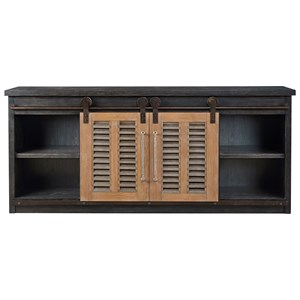 Merritt Entertainment Console with Sliding Doors
