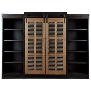 Darcy Entertainment Cabinet with Sliding Farmhouse Doors