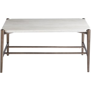 Contemporary Oslo Cocktail Table with White Stone Top