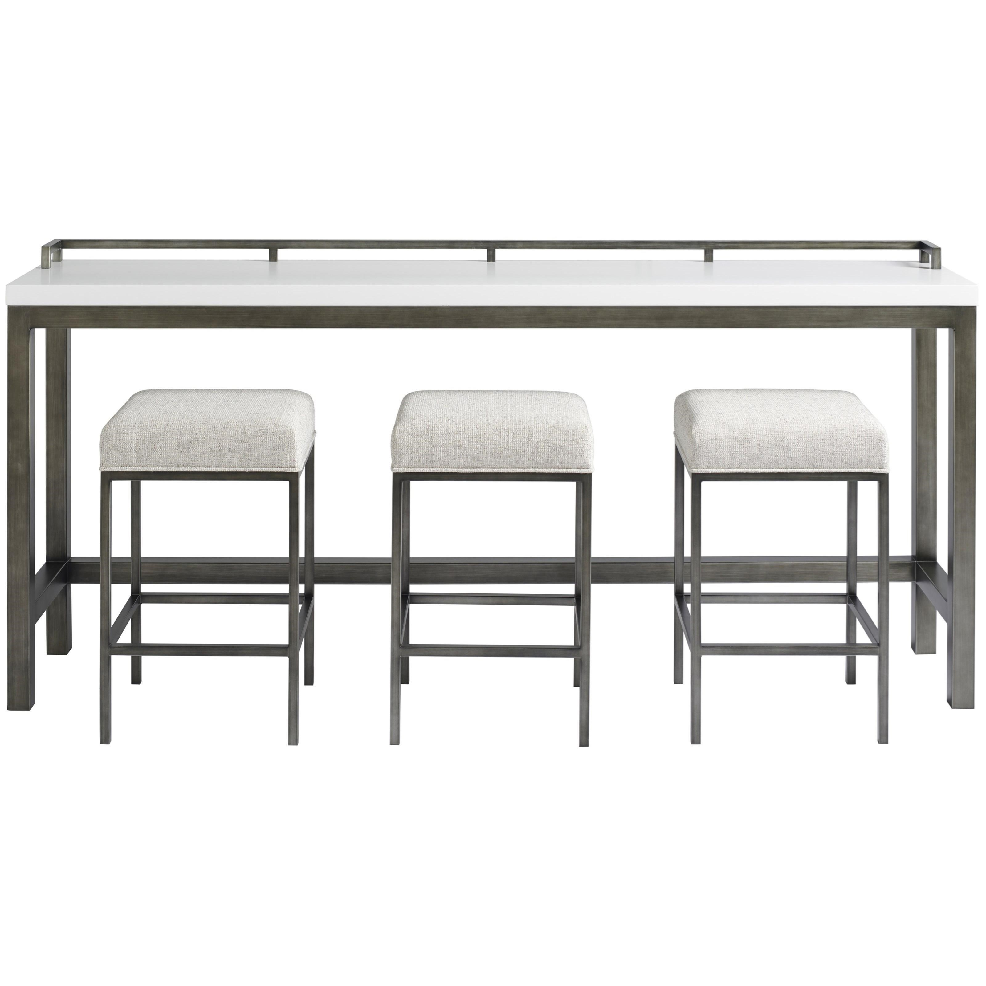 Curated Essence Console Table w/Stools by Universal at Jacksonville Furniture Mart