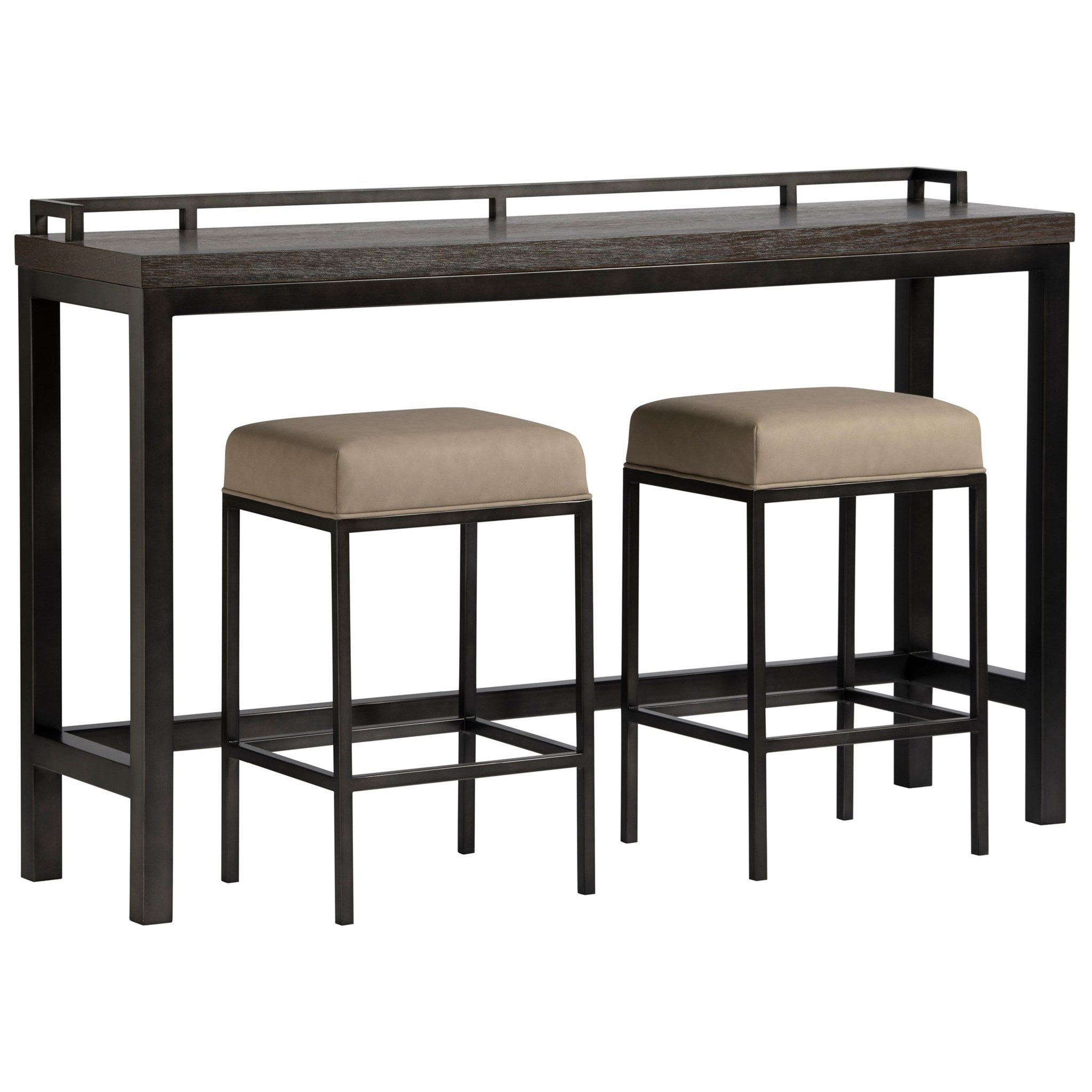 Curated Console Table with Stools by Universal at Zak's Home