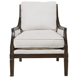 Accent Chair with Vicuña Finished Wood Frame