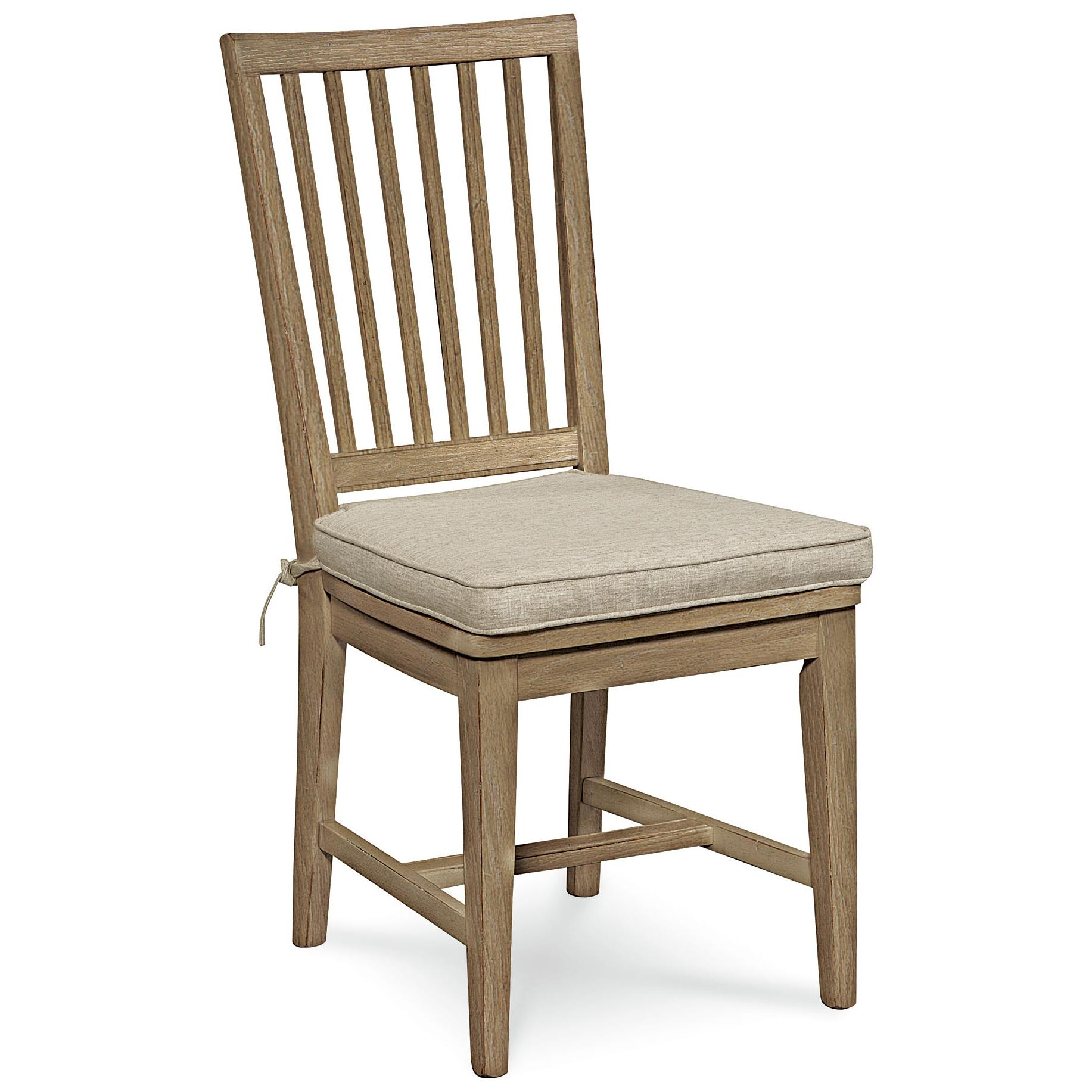 Vertical Slat Side Chair