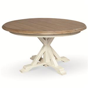 Round Single Pedestal Garden Breakfast Table