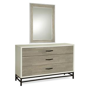 Spencer Dresser and Mirror Set with 3 Drawers