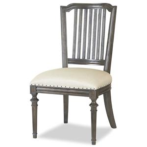 Cafe Dining Side Chair with Nailhead Trim