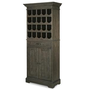 Tall Wine Cabinet with 2 Doors