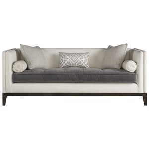 Sofa with Tufted Contrasting Seat Cushion