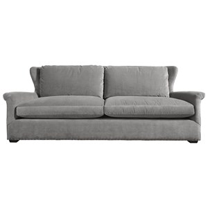 Transitional Sofa with Rolled Arms and Spaced Nailhead