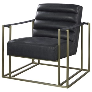 Accent Chair with Metal Frame