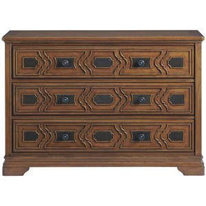 Wentworth Dresser with 3 Spacious Drawers and Intricate Raised Detailing