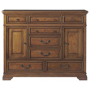 Kingsbury 8-Drawer Dressing Chest with Adjustable Interior Shelving