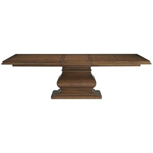 "Dining Table with Statuesque Base and 21"" Extension Leaf"
