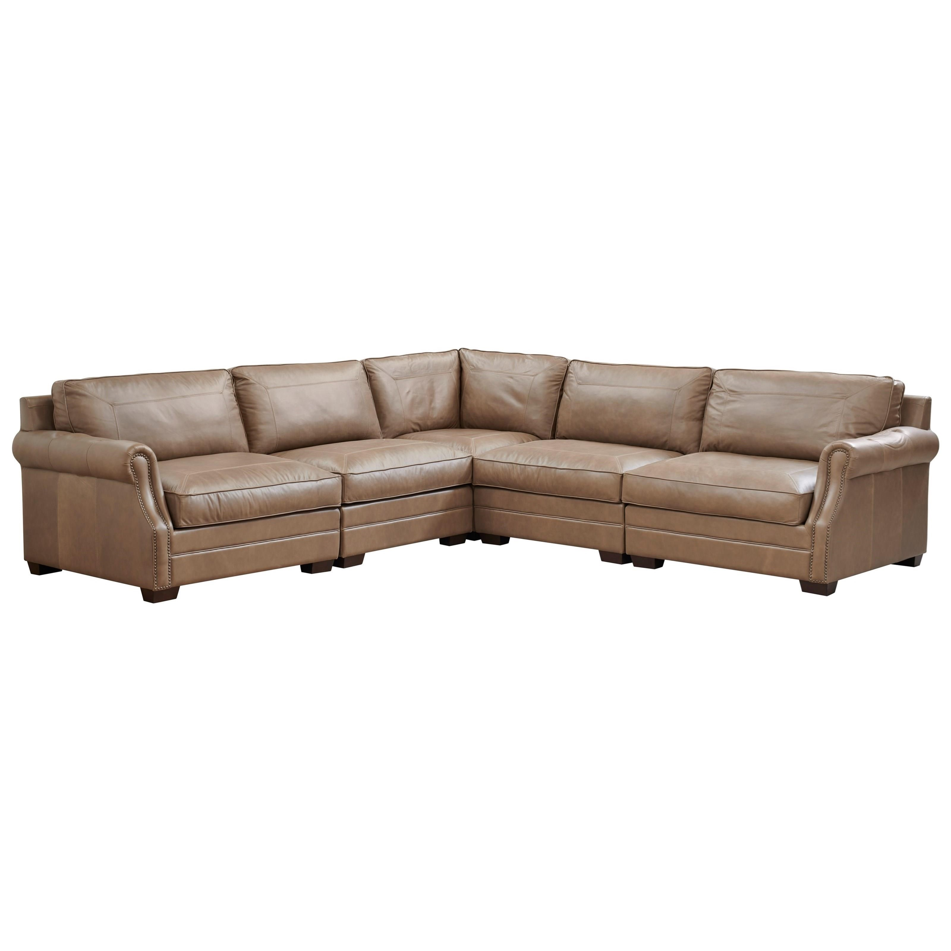 Leather Carrington Sectional by Universal at Baer's Furniture