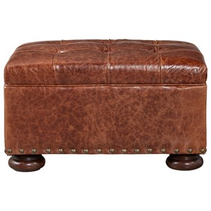Traditional Ottoman with Stacked Bun Feet