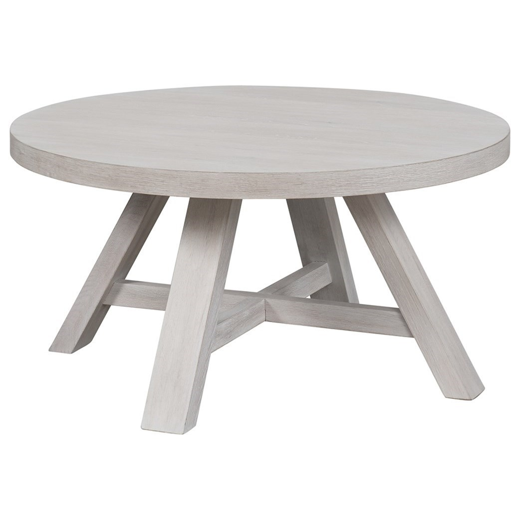 Modern Farmhouse Round Cocktail Table by Universal at Baer's Furniture