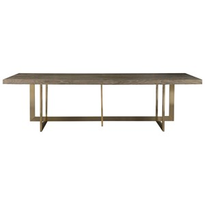 Jamison Dining Table with Bronze Base