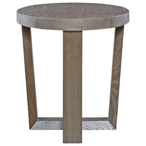 Contemporary Round End Table