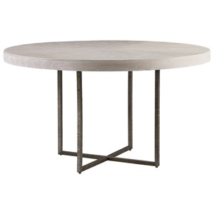 Robards Round Dining Table with Bronze Base