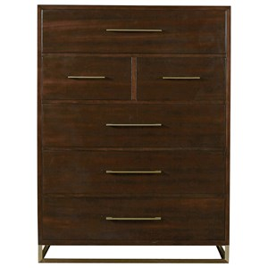 Bancroft Drawer Chest with Sleek Brushed Brass Handles