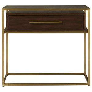 Bancroft Nightstand with Bronze Frame