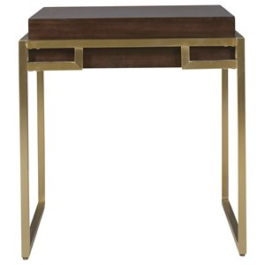 Hayworth End Table with Bronze Base