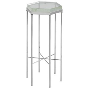 Contemporary Stewart Chair Side Table with Hexagon Top