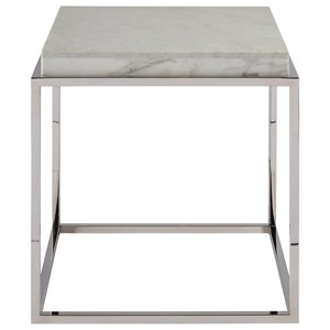 Contemporary End Table with Marble Stone Top